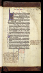 A Glossed Gospels of Luke and John f.1r